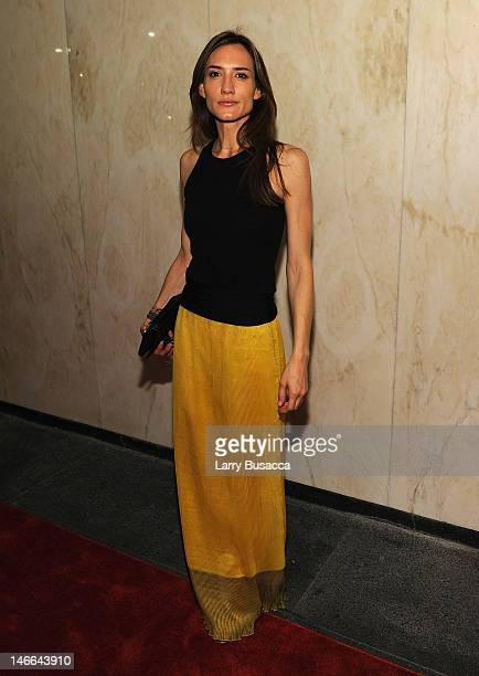 Alexandra Schouteden attends the after party for the Cinema Society with The Hollywood Reporter Piaget and Disaronno special screening of 'To Rome...