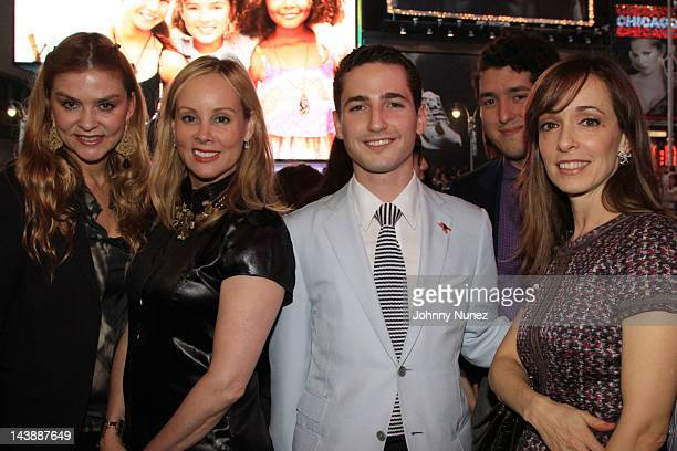Alexandra Seegera Yaz Hernandez Alexis Zambrano Jesus Torres and Marisol Zambrano attend Leslie Sardinia's Watching You Screening at Times Square...