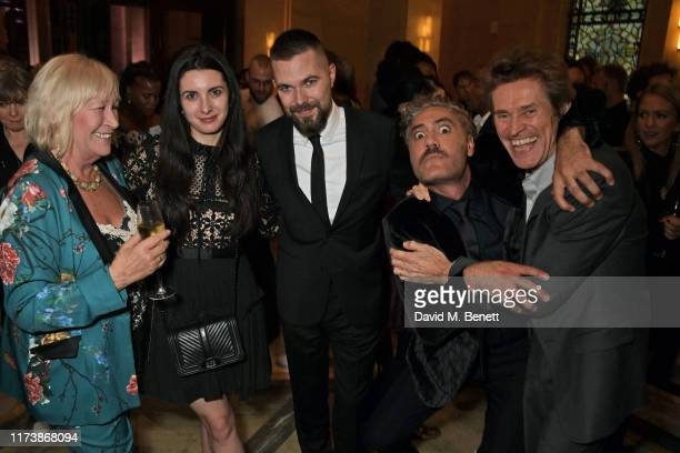 Alexandra Shaker Robert Eggers Taika Waititi and Willem Dafoe attend The Academy Of Motion Pictures Arts And Sciences 2019 New Members Party during...