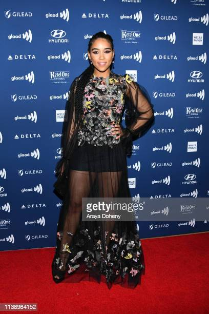 Alexandra Shipp at the 30th Annual GLAAD Media Awards at The Beverly Hilton Hotel on March 28 2019 in Beverly Hills California