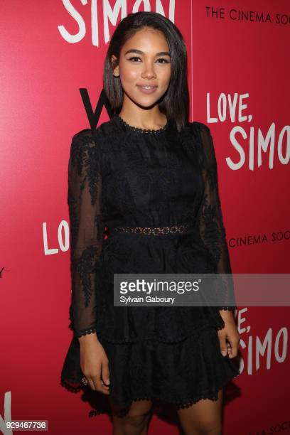 Alexandra Shipp attends 20th Century Fox Wingman host a screening of 'Love Simon' on March 8 2018 in New York City