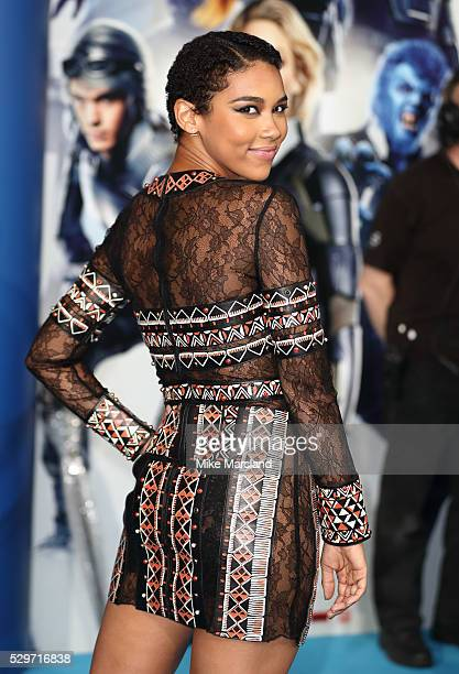 Alexandra Shipp attends a Global Fan Screening of XMen Apocalypse at BFI IMAX on May 9 2016 in London England