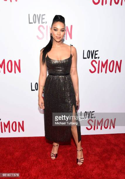 Alexandra Shipp attends a special screening of 20th Century Fox's Love Simon at Westfield Century City on March 13 2018 in Los Angeles California