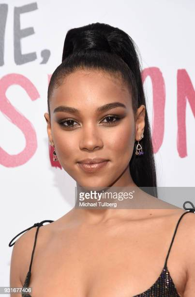 Alexandra Shipp attends a special screening of 20th Century Fox's 'Love Simon' at Westfield Century City on March 13 2018 in Los Angeles California