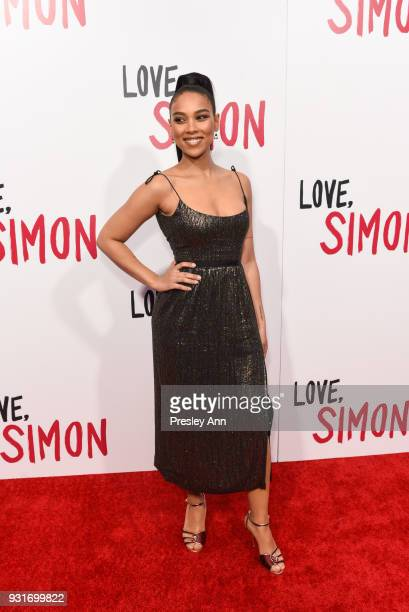 Alexandra Shipp attends Special Screening Of 20th Century Fox's Love Simon Arrivals at Westfield Century City on March 13 2018 in Century City...
