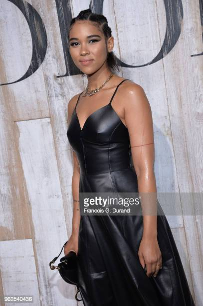 Alexandra Shipp attends the Christian Dior Couture S/S19 Cruise Collection Photocall At Grandes Ecuries De Chantillyon May 25 2018 in Chantilly France