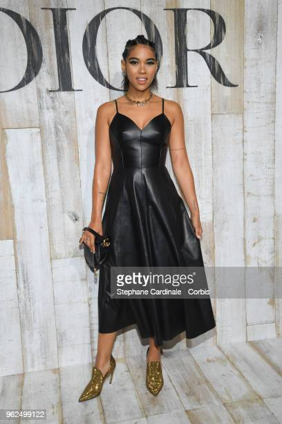 Alexandra Shipp attends the Christian Dior Couture S/S19 Cruise Collection on May 25 2018 in Chantilly France