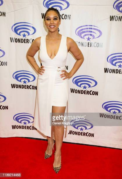Alexandra Shipp attends the Dark Phoenix photocall at WonderCon 2019 Day 1 at Anaheim Convention Center on March 29 2019 in Anaheim California