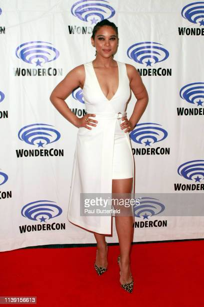 Alexandra Shipp attends the Dark Phoenixˆ press line during WonderCon 2019 at Anaheim Convention Center on March 29 2019 in Anaheim California