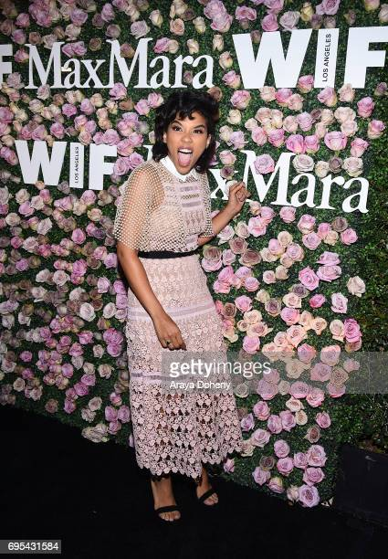 Alexandra Shipp attends the Max Mara Celebrates Zoey Deutch As The 2017 Women In Film Max Mara Face Of The Future Award Recipient event at Chateau...