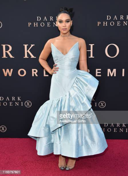 Alexandra Shipp attends the premiere of 20th Century Fox's Dark Phoenix at TCL Chinese Theatre on June 04 2019 in Hollywood California