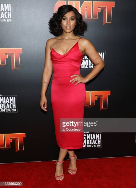 Alexandra Shipp attends the premiere of Shaft during the 23rd Annual American Black Film Festival on June 12, 2019 in Miami, Florida.