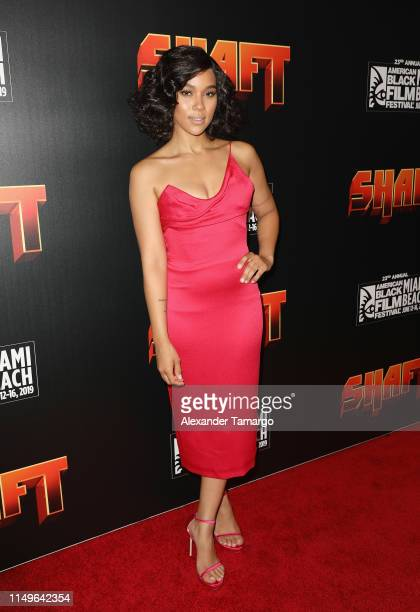 Alexandra Shipp attends the Shaft Opening Night Premiere of The American Black Film Festival on June 12 2019 in Miami Florida
