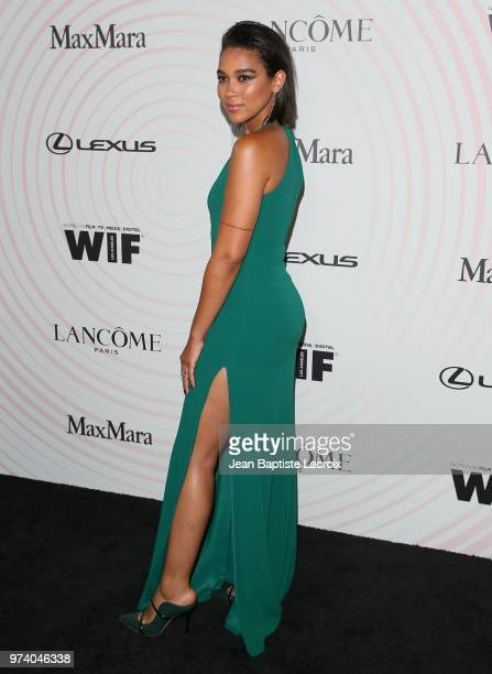 Alexandra Shipp attends the Women In Film 2018 Crystal Lucy Awards at The Beverly Hilton Hotel on June 13 2018 in Beverly Hills California