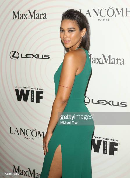 Alexandra Shipp attends the Women In Film 2018 Crystal Lucy Awards held at The Beverly Hilton Hotel on June 13 2018 in Beverly Hills California