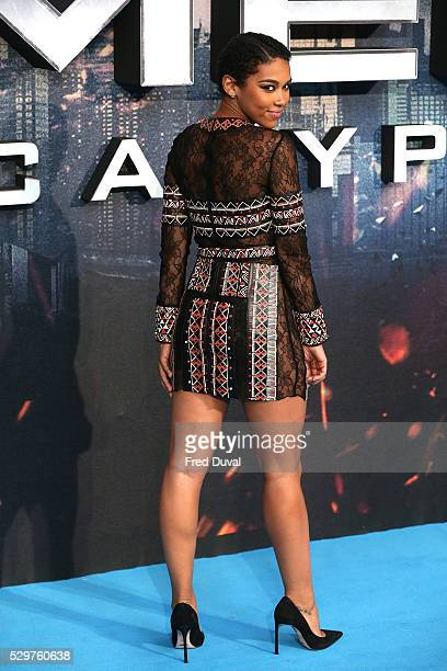 Alexandra Shipp attends the XMen Apocalypse Global Fan Screening at BFI IMAX on May 9 2016 in London England