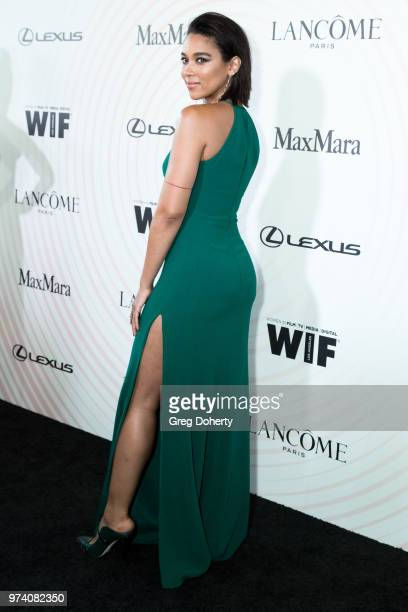 Alexandra Shipp attends Women In Film 2018 Crystal Lucy Award at The Beverly Hilton Hotel on June 13 2018 in Beverly Hills California