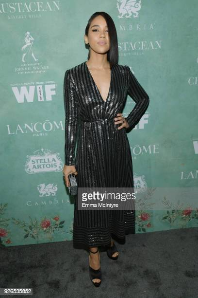 Alexandra Shipp attends Women In Film PreOscar Cocktail Party presented by Max Mara and Lancome with additional support from Crustacean Beverly Hills...