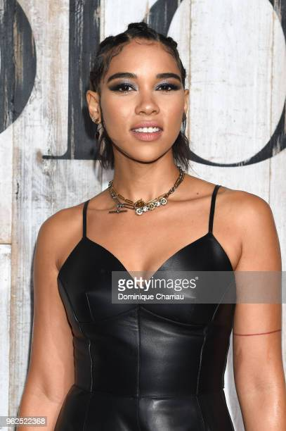 Alexandra Shipp poses at a photocall during Christian Dior Couture S/S19 Cruise Collection on May 25 2018 in Chantilly France