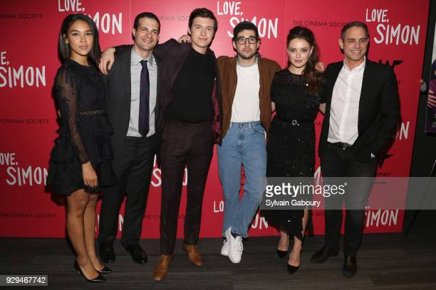 Alexandra Shipp Pouya Shahbazian Nick Robinson Jack Antonoff Katherine Langford and Greg Berlanti attend 20th Century Fox Wingman host a screening of...