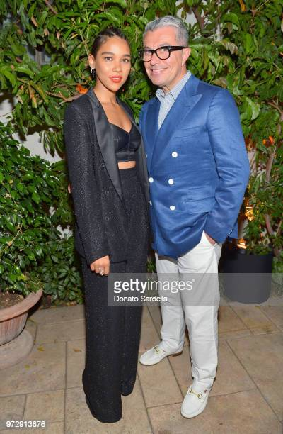 Alexandra Shipp wearing Max Mara and Giorgio Guidotti attend the Max Mara Celebration for Alexandra Shipp 2018 Women In Film Max Mara Face Of The...