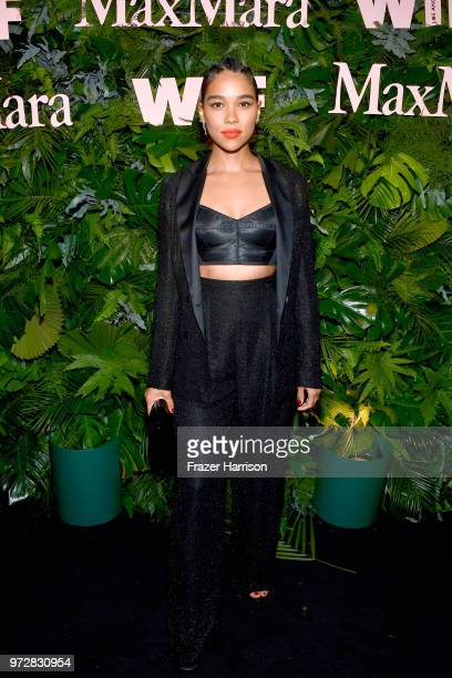 Alexandra Shipp wearing Max Mara attends the Max Mara Celebration for Alexandra Shipp 2018 Women In Film Max Mara Face Of The Future Award Recipient...