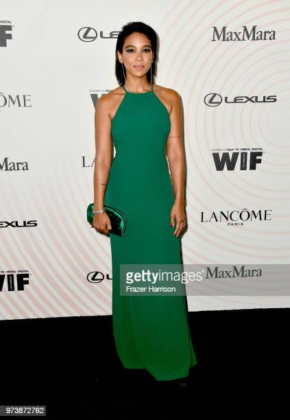 Alexandra Shipp wearing Max Mara attends the Women In Film 2018 Crystal Lucy Awards presented by Max Mara Lancôme and Lexus at The Beverly Hilton...