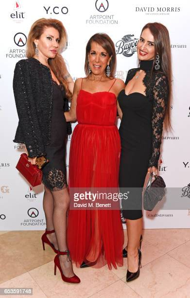 Alexandra Shishlova Helene Benhamou and Alina Blinova attend the Artpoint Foundation gala screening of 'The Legend About Valentina' a specially...