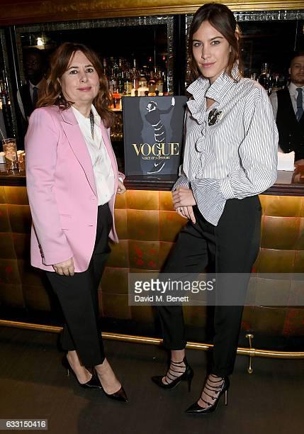 Alexandra Shulman and Alexa Chung discuss Vogue Voice of a CenturyÊat The Arts Club on January 30 2017 in London England