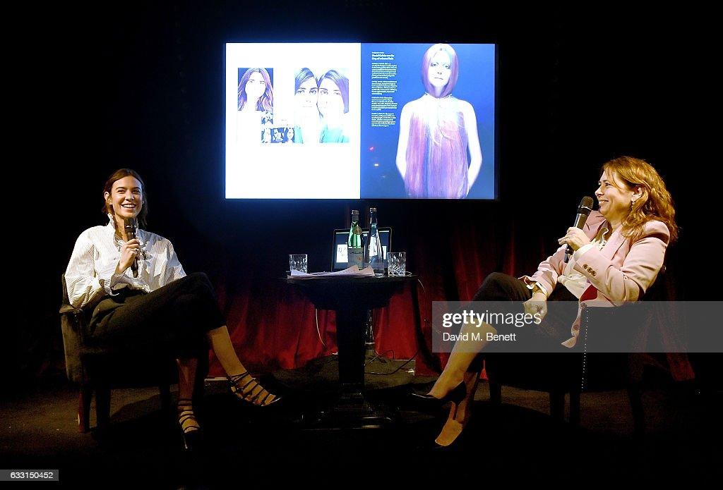 Alexandra Shulman and Alexa Chung discuss Vogue: Voice of a Century : News Photo