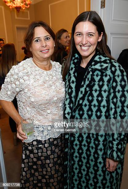Alexandra Shulman and Emilia Wickstead attend Vogue Voice of a Century book launch at Matches Fashion on September 20, 2016 in London, England.