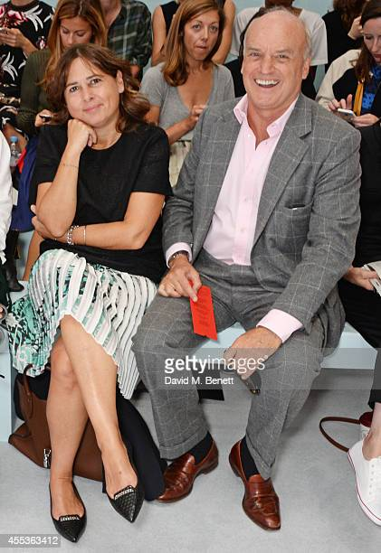 Alexandra Shulman and Nicholas Coleridge attend the Hunter Original SS 2015 catwalk show at on September 13, 2014 in London, England.