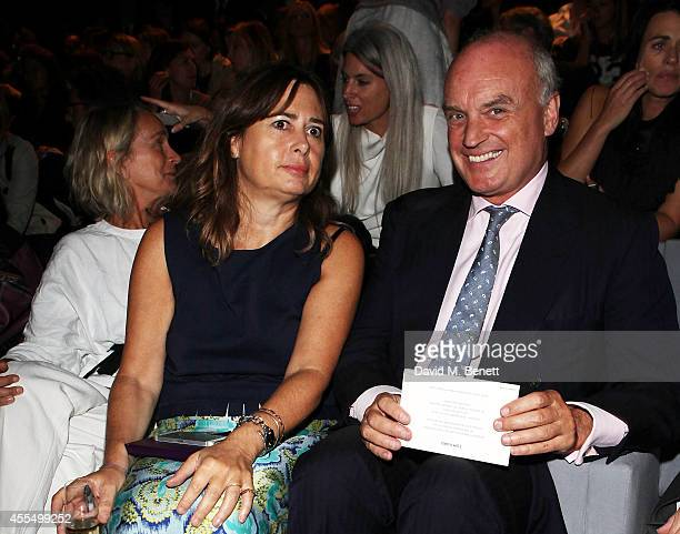 Alexandra Shulman and Nicholas Coleridge attend the TOM FORD show during London Fashion Week Spring Summer 2015 on September 15, 2014 in London,...