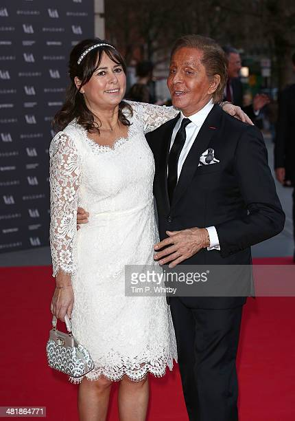 Alexandra Shulman and Valentino attend the preview of The Glamour of Italian Fashion exhibition at Victoria Albert Museum on April 1 2014 in London...