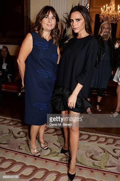 Alexandra Shulman and Victoria Beckham attend as Ambassador Barzun Mrs Brooke Barzun and Alexandra Shulman celebrate London Fashion Week at Winfield...