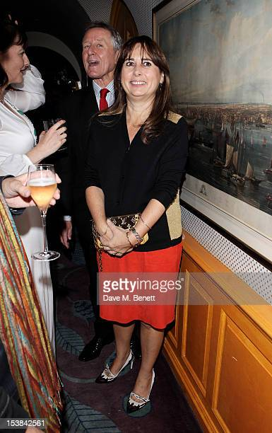Alexandra Shulman attends as Nicholas Coleridge launches his new book 'The Adventuress' at Annabels on October 9 2012 in London England