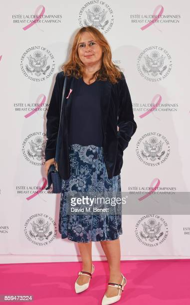 Alexandra Shulman attends the 25th Anniversary of the Estee Lauder Companies UK's Breast Cancer Campaign at the US Ambassadors Residence Winfield...
