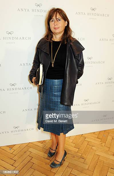 Alexandra Shulman attends the Anya Hindmarch presentation during London Fashion Week SS14 at Central Hall Westminster on September 17 2013 in London...