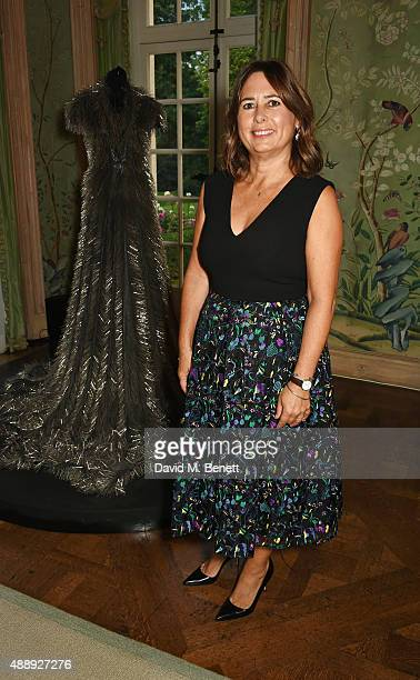 Alexandra Shulman attends the London Fashion Week party hosted by Ambassador Matthew Barzun and Mrs Brooke Brown Barzun with Alexandra Shulman in...