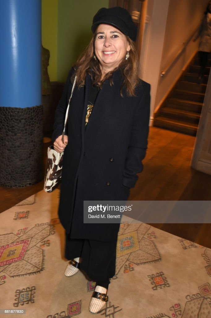 Alexandra Shulman attends the LOVE, CECIL special preview screening with director Lisa Immordino Vreeland at Soho Hotel on November 29, 2017 in London, England.