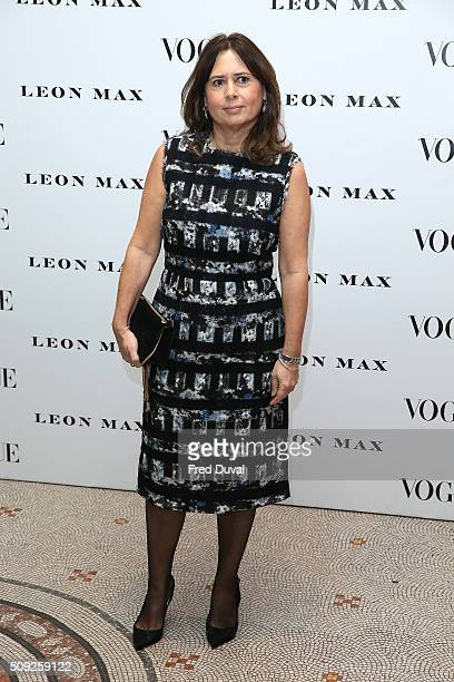 Alexandra Shulman attends the opening of Vogue 100 A century of Style at National Portrait Gallery on February 9 2016 in London England