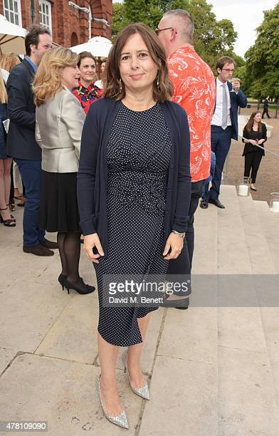 Alexandra Shulman attends The Ralph Lauren Vogue Wimbledon Summer Cocktail Party hosted by Alexandra Shulman and Boris Becker at The Orangery at...