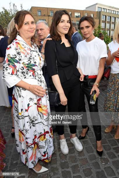 Alexandra Shulman Nigella Lawson and Victoria Beckham attend British Vogue editor Alexandra Shulman's leaving party at Dock Kitchen on June 22 2017...