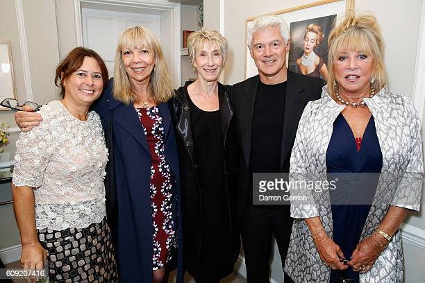 Alexandra Shulman Penelope Tree Barbara Daly John Frieda and Pattie Boyd attend Vogue Voice of a Century book launch at Matches Fashion on September...
