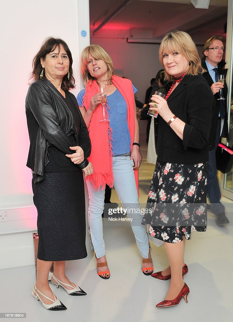 Alexandra Shulman, Rachel Johnson and Sue Crewe attend the opening of the Conde Nast College of Fashion and Design on April 30, 2013 in London, England.