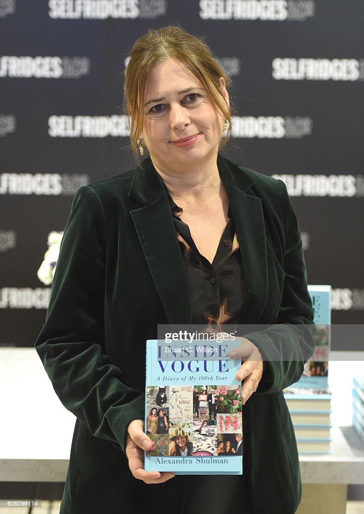 Alexandra  Shulman Signs Copies Of Her Latest Book 'Inside Vogue: A Diary Of My 100th Year'