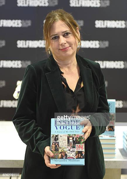 Alexandra Shulman signs copies of her latest book 'Inside Vogue A Diary of my 100th year' at Selfridges on November 28 2016 in London England