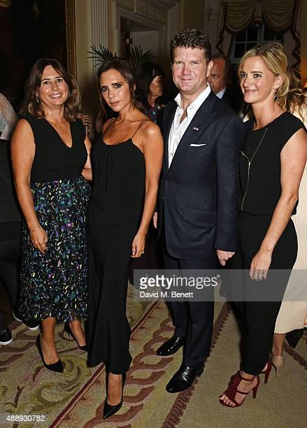 Alexandra Shulman Victoria Beckham Ambassador Matthew Barzun and Mrs Brooke Brown Barzun attend the London Fashion Week party hosted by Ambassador...