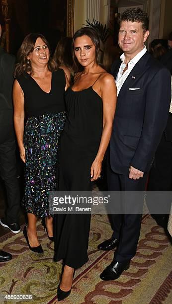 Alexandra Shulman Victoria Beckham and Ambassador Matthew Barzun attend the London Fashion Week party hosted by Ambassador Matthew Barzun and Mrs...