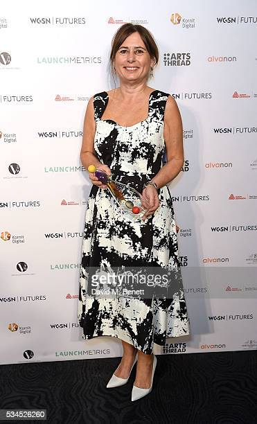 Alexandra Shulman with the Outstanding Achivement Award at the WGSN Futures Awards 2016 on May 26 2016 in London England